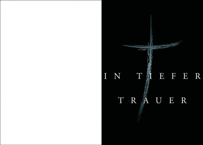 Kreuz mit schwarzem Hintergrund