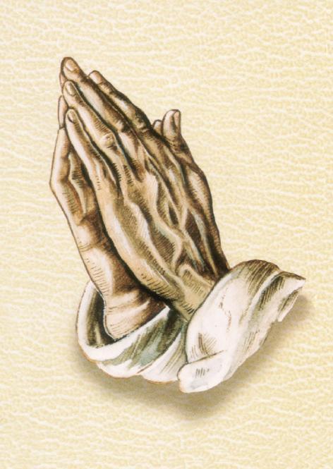 Betende Hand mit Chamois Hintergrund
