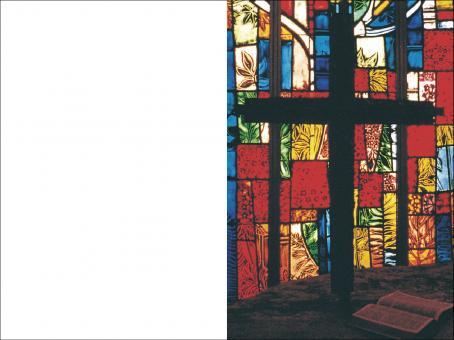 1015 Sterbebild Kreuz mit Buch