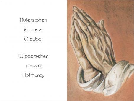 1020 Sterbebild Betende Hand