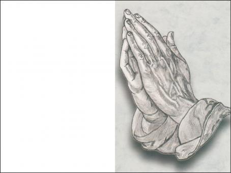 1021 Sterbebild Betende Hand