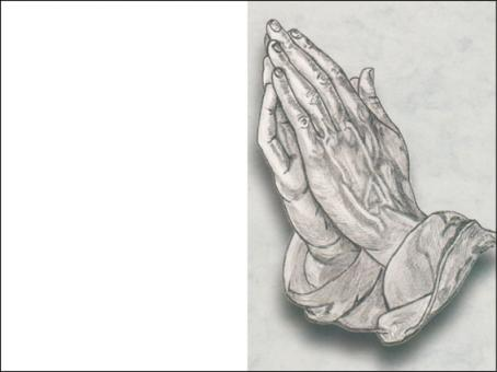 121 Sterbebild Betende Hand