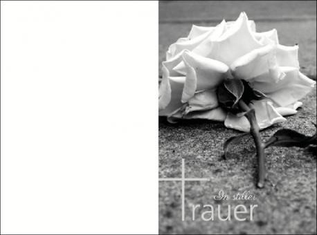 139 Sterbebild Trauerrose