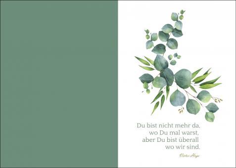 200102 Trauerkarte 4-seitig DIN A 5 Hoch, ohne Kuvert