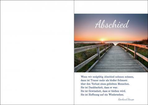 200105 Trauerkarte 4-seitig DIN A 5 Hoch, ohne Kuvert