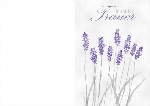 200110 Trauerkarte 4-seitig DIN A 5 Hoch, ohne Kuvert