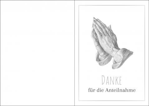 200113 Trauerkarte 4-seitig DIN A 5 Hoch, ohne Kuvert