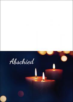 1739 Trauerkarte 4-seitig DIN A 6 nach oben, ohne Kuvert