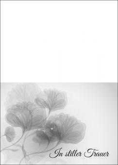 1741 Trauerkarte 4-seitig DIN A 6 nach oben, ohne Kuvert