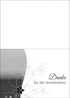 1742 Trauerkarte 4-seitig DIN A 6 nach oben, ohne Kuvert