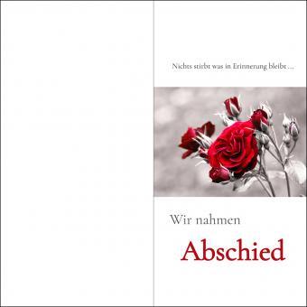 100203 Trauerkarte DL Hoch 4-seitig, ohne Kuvert