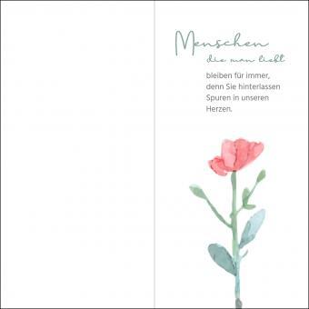 100204 Trauerkarte DL Hoch 4-seitig, ohne Kuvert