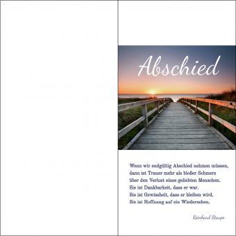 100210 Trauerkarte DL Hoch 4-seitig, ohne Kuvert