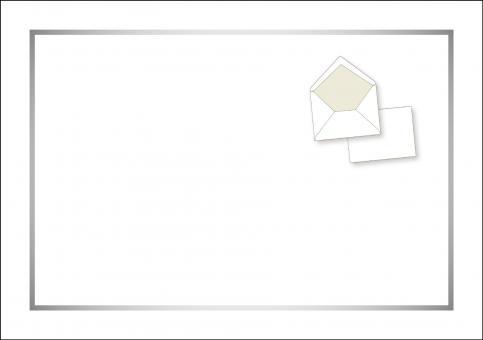 03 Kuvert C 5 für Trauerbrief und Trauerkarte mit Rahmen