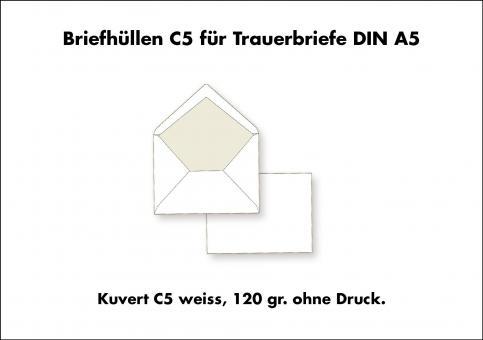 01 Kuvert C 5 für Trauerbrief und Trauerkarte ohne Druck