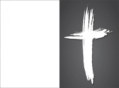 2009 Sterbebild Kreuz künstlerisch