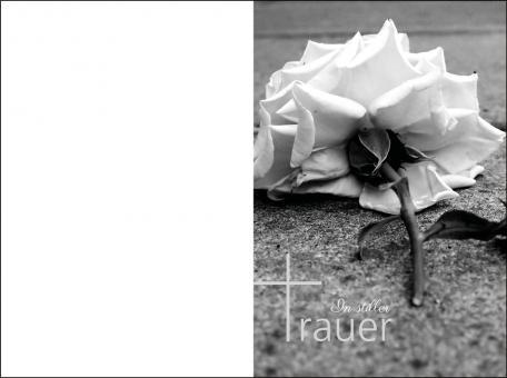1039 Sterbebild Trauerrose