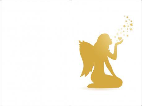 1042 Sterbebild Goldener Engel