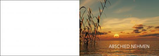 1507 Trauerkarte 4-seitig DIN A 6 Quer, ohne Kuvert