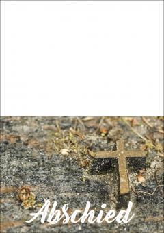 1703 Trauerkarte 4-seitig DIN A 6 nach oben, ohne Kuvert