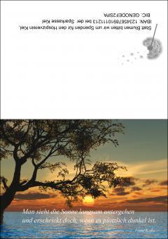 1705 Trauerkarte 4-seitig DIN A 6 nach oben, ohne Kuvert