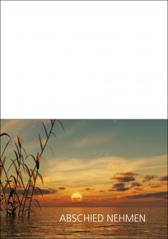 1707 Trauerkarte 4-seitig DIN A 6 nach oben, ohne Kuvert