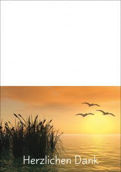 1708 Trauerkarte 4-seitig DIN A 6 nach oben, ohne Kuvert