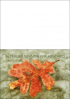 1712 Trauerkarte 4-seitig DIN A 6 nach oben, ohne Kuvert