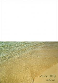 1713 Trauerkarte 4-seitig DIN A 6 nach oben, ohne Kuvert