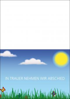 1718 Trauerkarte 4-seitig DIN A 6 nach oben, ohne Kuvert