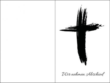 210 Sterbebild Kreuz künstlerisch